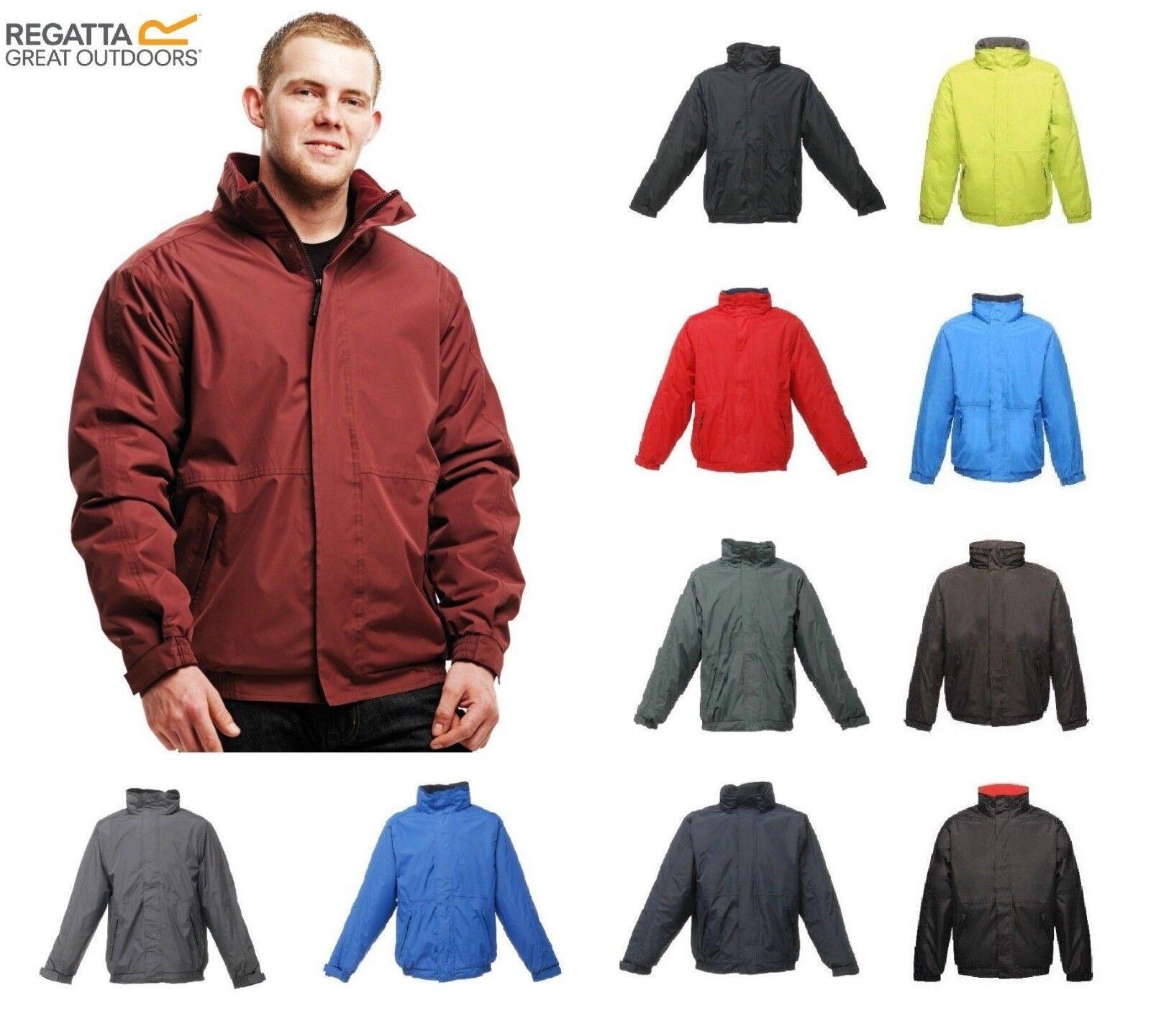 New Regatta Dover Jacket Mens Waterproof Windproof Fleece Lined Hooded Full Zip
