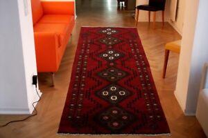 ++selten Perser Teppich Hamedan 210x90 ++