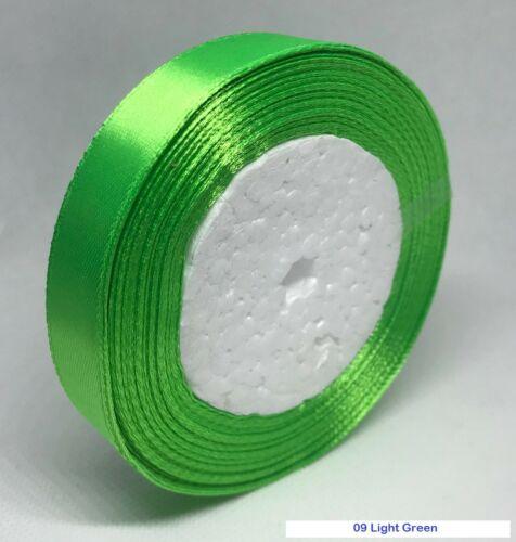 10 mm 15 mm 20 mm 25 mm de largeur 22 mètres Simple Face ruban de satin ROLL UK Gratuit p/&p