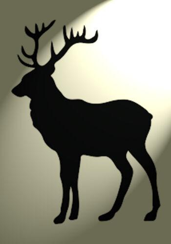 Shabby Chic Stencil Stag Deer Rustic Mylar Vintage A4 297x210mm wall Design 2
