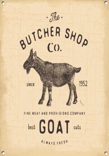 """/""""BUTCHER SHOP/"""" MEAT,COOKING,KITCHEN,FOOD,ENAMEL,METAL SIGN,789"""
