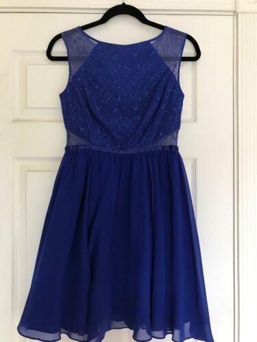 Aqua Dresses Size 4 Blue Beaded Party Dress