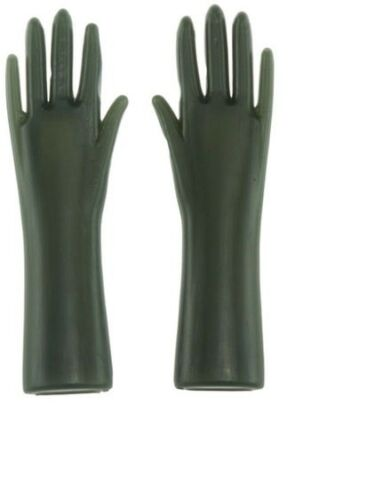 Dollhouse Miniatures 1:12 Scale Green Rubber Gloves #IM65605