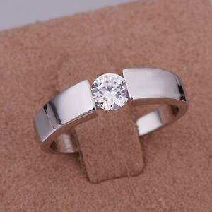 925 Fashion Silver Exquisite Austria Crystal Wedding Ring Jewelry