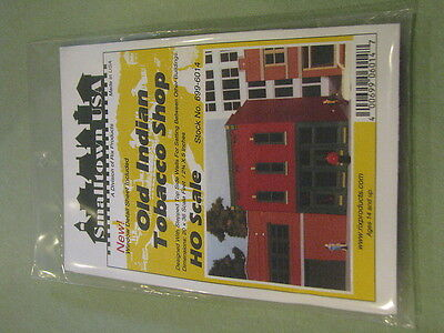 """Smalltown USA HO #699-6014 City Buildings -- Old Indian Tobacco Shop 2-3/4 x 5"""""""