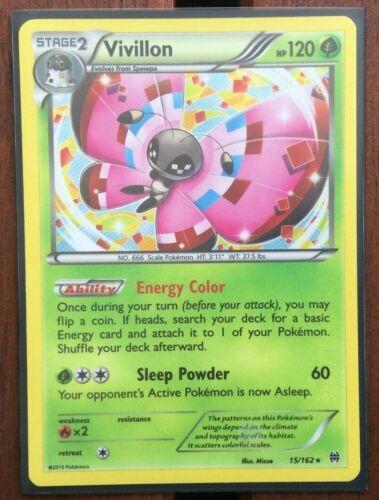 Pokemon Card  VIVILLON  HOLO RARE  BREAKTHROUGH  15//162  ***MINT***