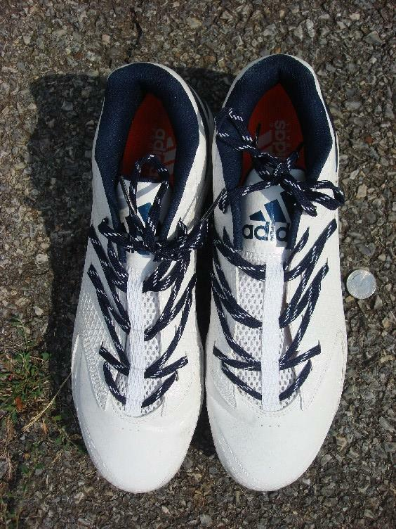 shoes Adidas cleats cleets white bluee men's 13 soccer football shoe cleat