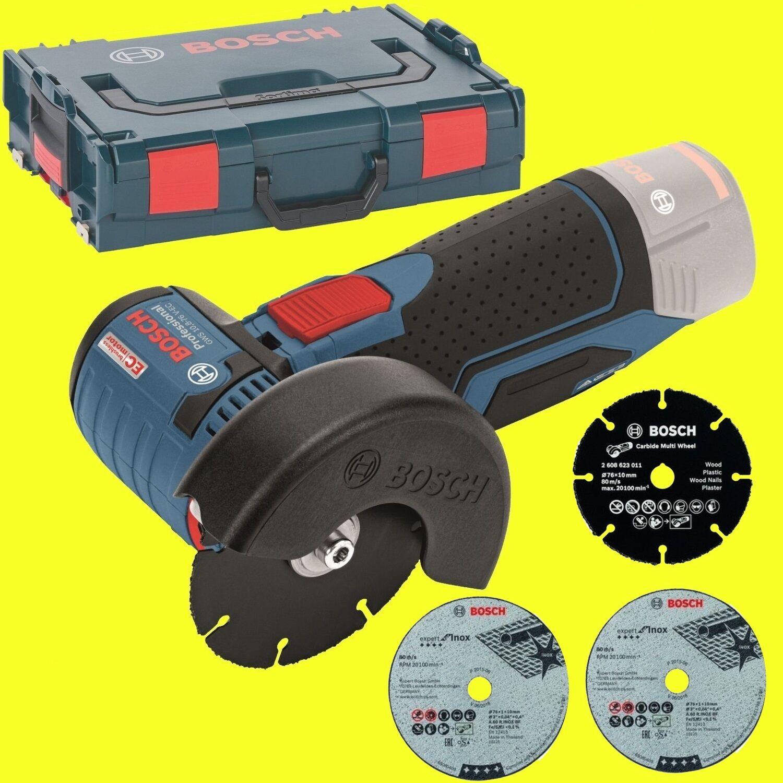 Bosch Amoladora en Angular Batería Gws 12V-76 Solo en Amoladora L-BOXX cf8075