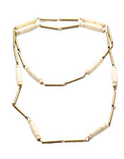 Athena- gorgeous white fish scale beads & antique gold beads necklace(ZX267)