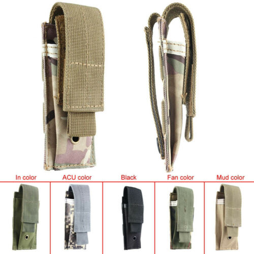 Small Tactical Military Single Cartridge Clip Bag Pistol Magazine Pouch Bag New