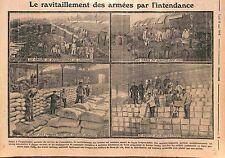 Armée Française Boulangerie Train Vin Farines Service de l'Intendance  WWI 1915