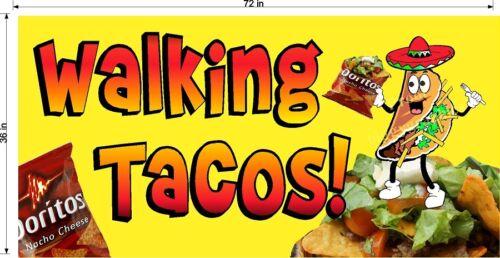 CHOOSE A SIZE WALKING TACOS TACO IN A BAG VINYL HORIZONTAL BANNERS DORITOS