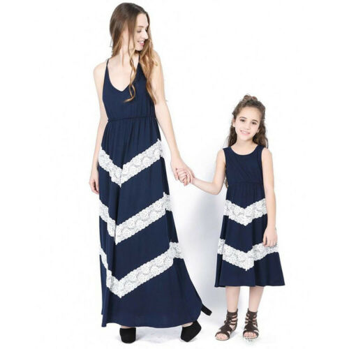 US Mother and Daughter Casual Sleeveless Dress Mommy/&Me Family Matching Outfits