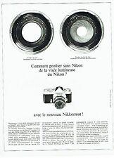 PUBLICITE ADVERTISING 126  1966    Nikon appareil photo Nikkormat
