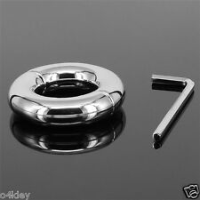 ROUND 2 PIECE BALL STRETCH WEIGHS 200G STAINLESS STEEL TESTICLE SCROTUM WEIGHT