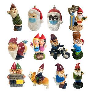 Funny Resin Naughty Garden Gnome Statue Ornaments Outdoor Villa Home Figurines