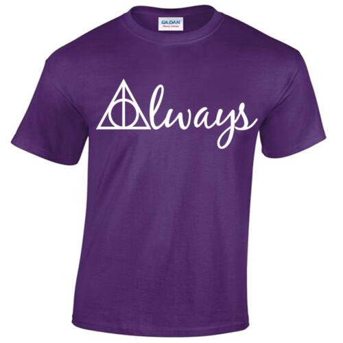 ALWAYS Harry Potter T-shirt men/'s wizard gryffindor hogwarts snape