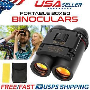 New Vision Mini Binoculars 30 x 60 Zoom Outdoor Travel Folding Telescope Bag