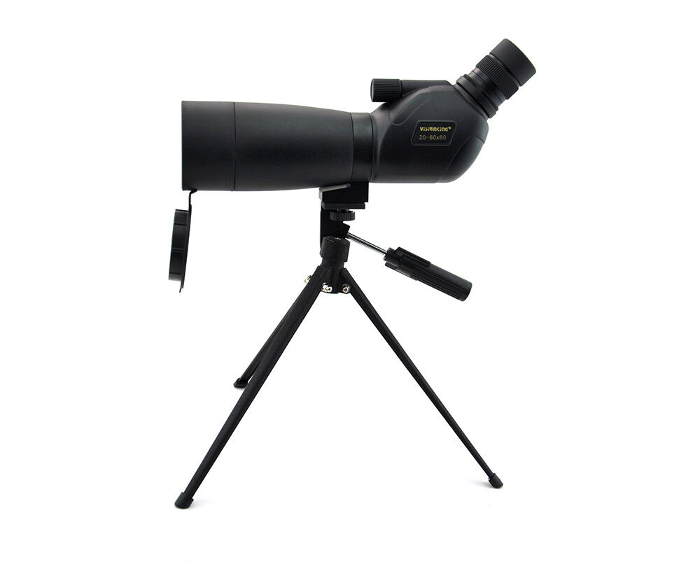 Visionking 20-60x60 Waterproof Bak4 Spotting Scope Telescope W/Tripod, Gift 4 U