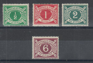 Ireland-Sc-J1-J4-MOG-1925-Postage-Dues-cplt-set-with-small-faults