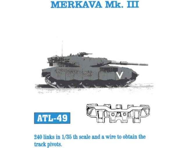 1/35 ATL49 FREESHIP FriulModel Tracks for Merkava MK III