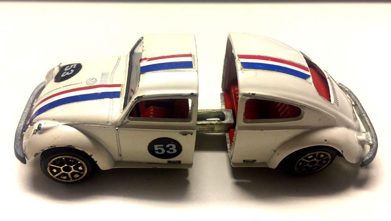 POLITOYS Herbie 53 Maggiolino MATTO bon état d'origine échelle 1 43