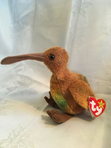 Ty beanie babies Beak 1998 retired 4211 3 mistakes on hang tag