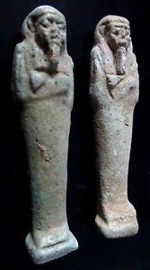 2-Antique-amulette-Shabti-OUSHEBTI-EGYPTIEN-funeraires-Figure-Basse-Epoque