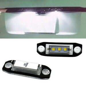 Car LED License Plate Number Light White 6K Lamp For Volvo S80 Xc90 S40 v60 S60