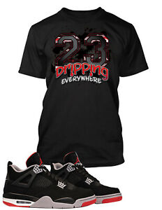 T-Shirt-to-Match-Air-Jordan-4-Bred-Shoe-Graphic-Tee-Pro-Club-Big-and-Tall-Small