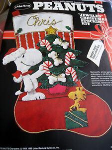 image is loading malina peanuts felt christmas stocking kit sweet tree - Snoopy Christmas Stocking