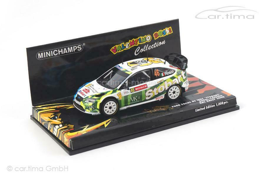 Ford Focus  RS WRC-RAC Rally 2008-Rossi Cassina - 1 of 1.008 - Minichamps -  magasin d'offre