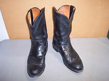 Lucchese  Mens Roper Toe Western Boots Size 9-1/2 EE Black Cowboy