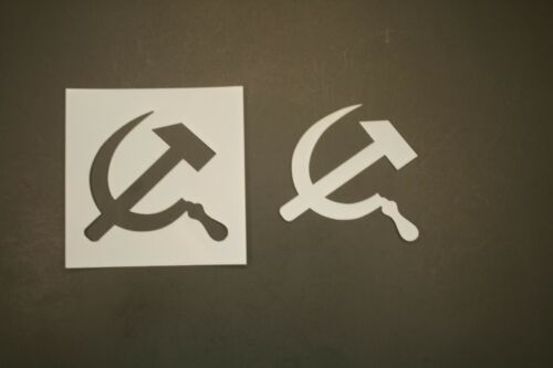 Hammer and Sickle Reusable Mylar Stencil Art Supplies