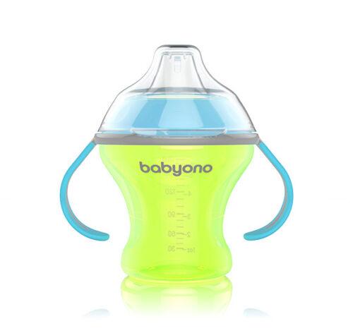 Sin Derrames Taza 180 Ml Bebé Niño con suave del canalón natural de enfermería BABYONO 1456