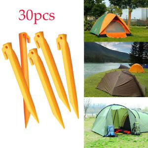 Image is loading 30-Plastic-Tent-Pegs-Nails-Sand-Ground-Stakes-  sc 1 st  eBay & 30* Plastic Tent Pegs Nails Sand Ground Stakes Outdoor Camping ...