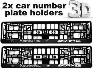 2-x-3D-CAR-Number-Plate-Surround-Holder-Frames-BEST-FIT-for-MERCEDES