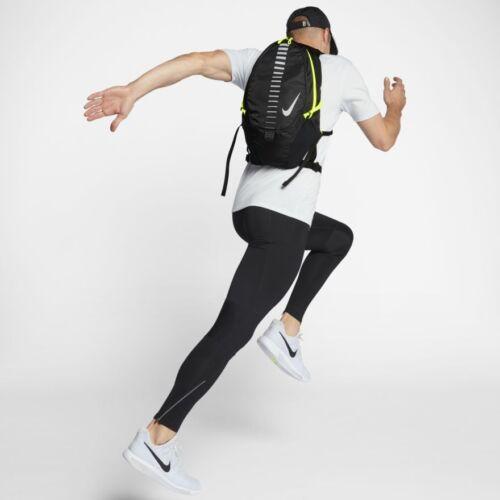 Neu Laufen Reflecive Nike Commuter Volt Rucksack Schwarz Hell AFRvF
