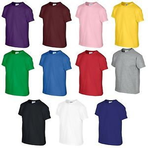 d5a5fe9fb9f8 Boys Girls Plain Unisex Tshirt School Uniform Top T Shirt All Sizes ...