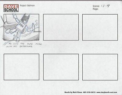 2004 Lego Batman Storyboard Art By Mark Simon Vf 8.0 Batman Batarang Scene 18-19 Relieving Heat And Sunstroke Comics