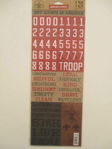 K/&Co en relieve Pegatinas-Boy Scouts of America palabras y números