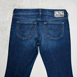 Damen Diesel Louvely Jeans Regulärer Passen Bootcut Bein Gr. w31 l32 Stretch Wash