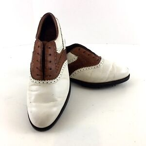 bd43c8b9dea Reebok Classic Men s Golf Saddle Shoes Size 9.5D Gore-tex White ...
