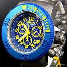 Invicta Sea Hunter 58mm Titanium Blue Carbon Fiber Swiss Chronograph Watch New
