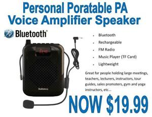 Bluetooth Personal Portable Rechargeable Voice Amplifier PA Speaker Canada Preview