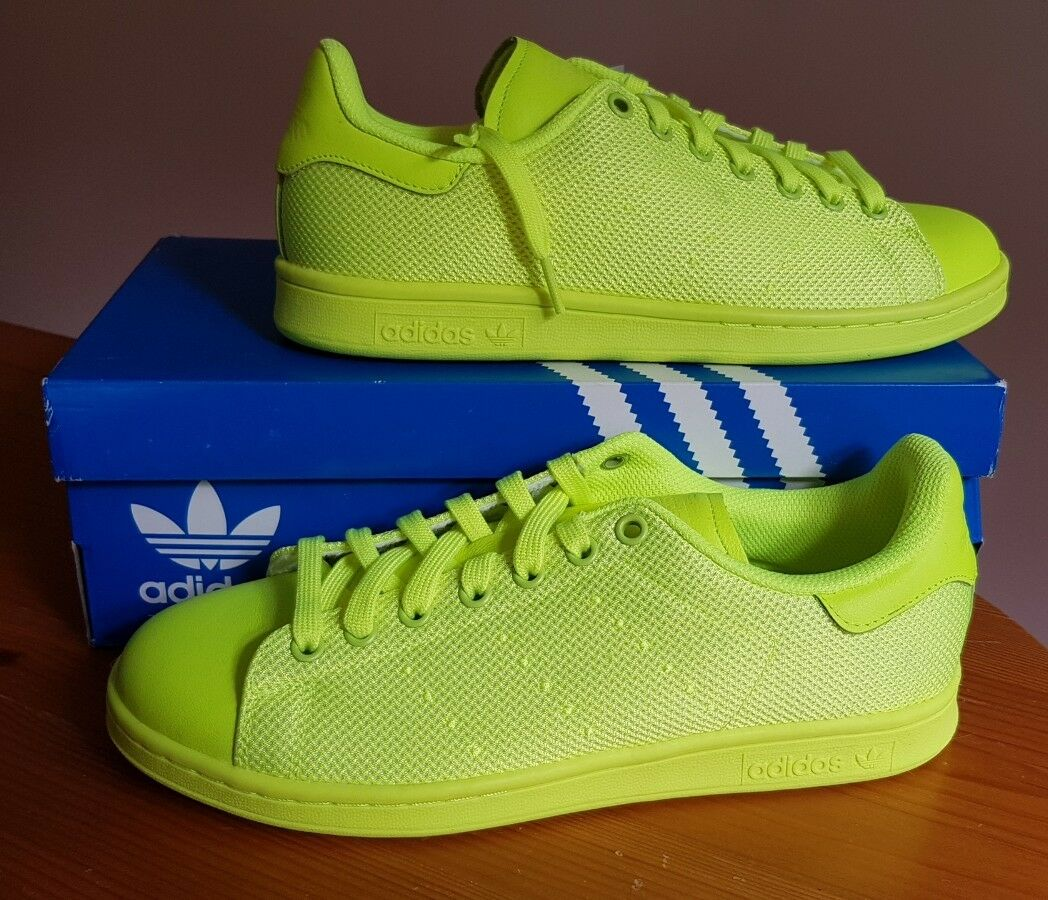 Adidas Originals Stan Smith Solar Amarillo Zapatillas Nuevo Talla Y En Caja Bnwt Talla Nuevo 9 (EUR 43 1/3) dee2b8