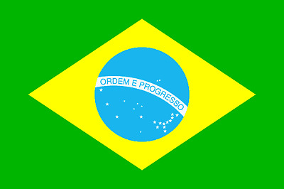 Fahne 30x45 cm Brasilien Brasil kleine Flagge mit Hohlsaum für Garten Deko NEU