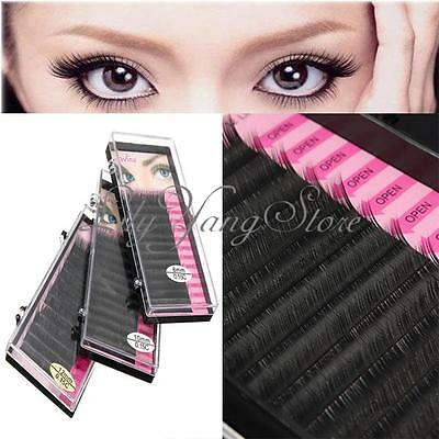 Makeup Individual False Eyelashes Thick Curl Eye Lash Extensions Tool 8/10/12mm