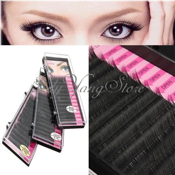 Makeup Individual False Eyelashes Thick Curl Eye Lash Extensions Tool 8/10/12mm