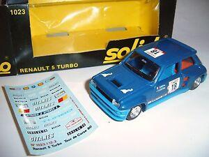 Renault-R-5-r5-turbo-rallye-tour-de-Corse-Saby-Tilber-18-SOLIDO-1023-1-43-en-Boite
